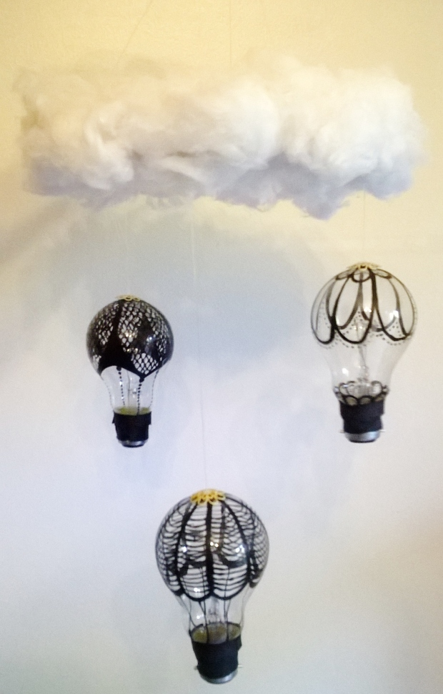 H.O.T.T Air Balloon Chandelier Tutorial