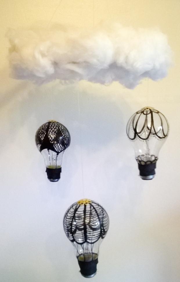 H.O.T.T Air Balloon Chandelier Tutorial